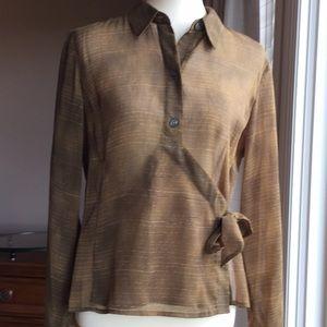 Liz Claiborne sheer wrap blouse